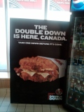 We tried to double down with a double down at a blackjack table at a Las Vegas casino, but the house won our sandwich.
