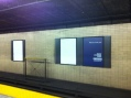 Technology makes traditional ads so obsolete, two of these posters have nothing to say, despite the third poster's attempt to convince that transit advertising works!