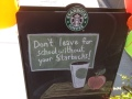 If Starbucks had been invented when Mitt Romney was in school, we wonder if his wayward ways would have him follow this sign's advice.