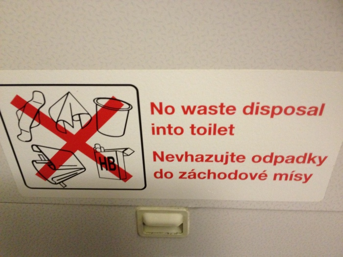 If you're leaving town on an airplane, it's always a bad idea to go fishin' in the airplane's toilet.